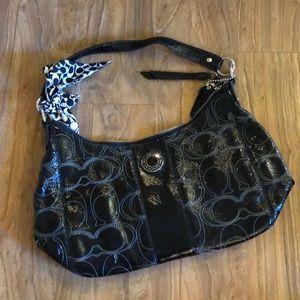 Coach black shoulder purse